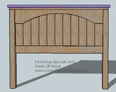 Ana White | Build a Farmhouse Bed with Arch | Free and Easy DIY Project and Furniture Plans