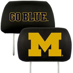 Michigan Wolverines 2-Pack Auto Car Truck Embroidered Headrest Covers