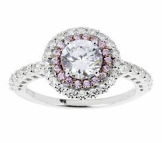 Double pink halo ring