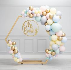 (not necessarily with the frame - just the balloon clusters) Baby shower inspiration for photos Deco Baby Shower, Baby Shower Balloons, Shower Party, Baby Shower Parties, Baby Shower Themes, Baby Boy Shower, Baby Showers, Baby Shower Dresses, Wedding Balloon Decorations