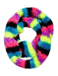 Neon Rainbow Scarf | Scarves | Winter Accessories | Shop Justice Justice Accessories, Winter Accessories, Accessories Shop, Winter Time, Winter Wear, Justice Clothing, Neon Rainbow, Tween Fashion, Tween Girls