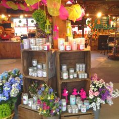 craft fair candle displays   ... candle display in the inner part...   #candles #candledisplay #
