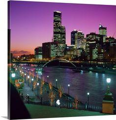Australia, Oceania, Victoria, Melbourne, Skyline and Yarra river Melbourne Skyline, New York Skyline, Travel Forums, Wall Art Prints, Canvas Prints, Free Travel, Trip Planning, Victoria, Exterior