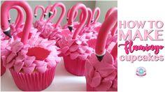 HOW TO MAKE FLAMINGO CUPCAKES | Abbyliciousz The Cake Boutique