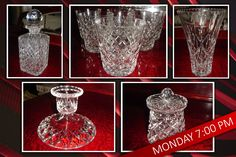 There is a great range of fantastic CRYSTAL glassware in the Antiques, Collectibles and Vintage Online Auction Ending pm TONIGHT! Under The Hammer, Crystal Glassware, Glass Vase, Auction, Range, Crystals, Antiques, Vintage, Home Decor