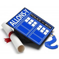Now I'm ready to Graduate! #tasseltopper #decoratedgradcap https://www.tasseltoppers.com/#!/product/dr-who-allonsy
