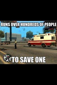 Grand Theft Auto ambulance