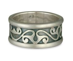 The Bridget Wedding Ring is an ethical wedding ring. They are handcrafted fair trade wedding rings made in Santa Fe, NM. Shown in Sterling Silver Borders & Base w Yellow Gold Center. Sterling Silver Wedding Rings, Silver Rings, Custom Jewelry Design, Rings For Men, Polish, Change, Yellow, Metal, Gold