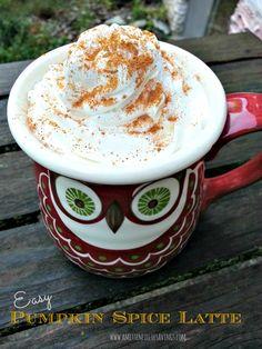 Easy Pumpkin Spice Latte - A Mitten Full of Savings