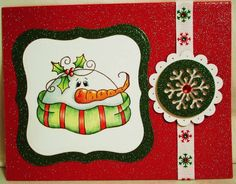 Plum Purdy Rubber Stamp by Renee Mullins