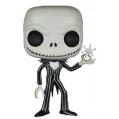 The Nightmare Before Christmas - Jack Skellington with Snowflake Pop! Vinyl Figure It's your favourite singing skeleton, Jack! this variant shows Jack Skellington holding a snowflake. Jack Skellington, Chip Beauty And The Beast, Disney Play, Black Outfit Men, Pop Figurine, Film D, Mighty Ape, Pop Vinyl Figures, Funko Pop Vinyl