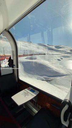 The Bernina Express from St Moritz to Lago Bianco
