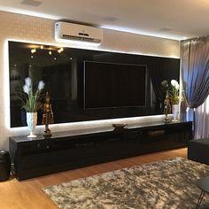 Modern Tv Unit Designs, Modern Tv Wall Units, Living Room Tv Unit Designs, Tv Unit Decor, Tv Wall Decor, Living Room Interior, Home Living Room, Living Room Decor, House Outside Design