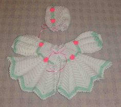 Ravelry: Crocheted Baby Set No. 1201 pattern by Alice Fowler http://www.ravelry.com/patterns/library/crocheted-baby-set-no-1201