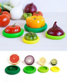 Food Huggers create a tight seal by wrapping around your leftover fruits and veggies.