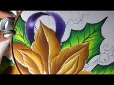 Pintura en tela nochebuenas azules #2 con cony - YouTube