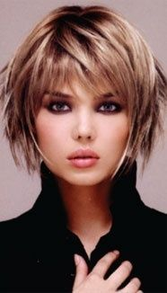 Short Layered Hairstyle, With Highlights