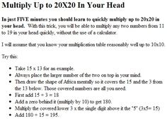 Math Tricks, why don't they teach you this in school?!?!?