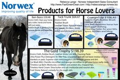 Do you have horses, or know someone who does? Do you or your kids take riding lessons? Please check out the Norwex items you could use to take care of the horse, and how they can be used!  www.FastGreenClean.com