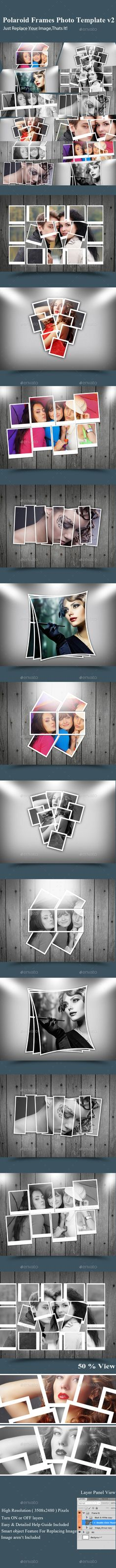 Polaroid Frames Photo Template v2 Polaroid frame and Template - polaroid template