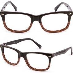 66cff14e7dab7 Brown Square Men Women Acetate Frame Prescription Glasses Sunglasses Anti  Glare