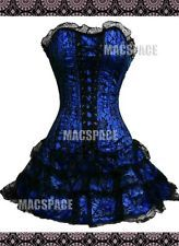 Deep Blue Black Gothic Lolita Bustier Corset Dress S M L XL