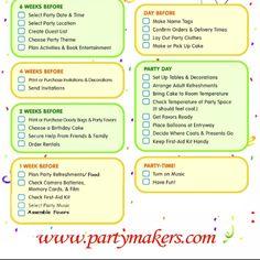 printable birthday party checklist Birthday Party Checklist, Party Planning Checklist, Event Planning Quotes, 1st Birthday Parties, 2nd Birthday, Birthday Ideas, Birthday Decoration Items, Party List, Kids Party Themes