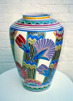 Poole pottery Vase 1920s/30s - art deco Poole designed by Truda Carter. @designerwallace