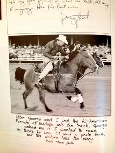 ❦ George Strait racing Roy Cooper how cool is this!!!