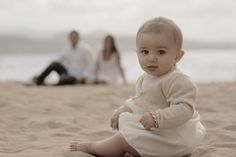 Baby's are just the cutest things on earth! Baby Beach Pictures, Baby Family Pictures, Florida Pictures, Family Picture Poses, Beach Family Photos, Beach Photography Poses, Baby Girl Photography, Family Photography, Christening Photography