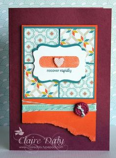 2013 SAB Patterned Occasions stamp set, Sycamore Street DSP ribbon & button