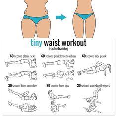 Tiny waist workout