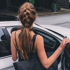 "5,513 Likes, 34 Comments - Luxy Hair (@luxyhair) on Instagram: ""Dutch braid into a wrapped ponytail  Today's #hairstyle #inspo @nicholeciotti 