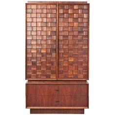 Mid Century Modern Brutalist Style Cabinet | From a unique collection of antique and modern cabinets at https://www.1stdibs.com/furniture/storage-case-pieces/cabinets/