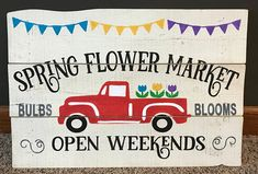 Red Truck Spring Flower Market