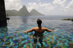 12 infinity pools that are so beautiful you might have a little cry at your desk Santa Lucia, Hotels With Infinity Pools, St Lucia Hotels, Beautiful Pools, Travel News, Might Have, Running Away, Crying, Swimming Pools