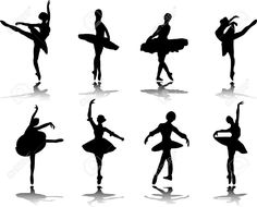 Collection Of Ballerinas With Reflection Silhouette Royalty Free Cliparts, Vectors, And Stock Illustration. Image 7881815.