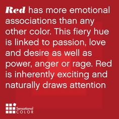 Meaning Of The Color Red I knew there was a reason I LOVE this color