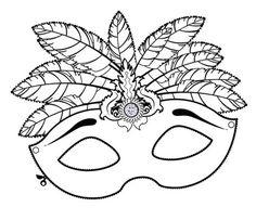 Máscara antifaz fantasía imprimir y colorear