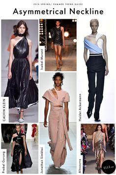 Asymmetrical Necklines Fashion Trends 2018, Current Fashion Trends, Spring Fashion Trends, Fashion 2018, Fashion Week, Women's Fashion Dresses, 50 Fashion, Fashion Styles, Trendy Fashion