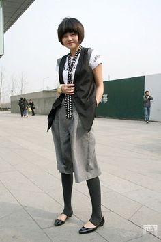 leggings under long shorts.