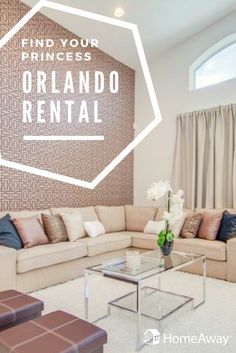 Be a queen for the weekend and bring your ladies in waiting! Explore Orlando, Florida like royalty! Orlando Travel, Vacation Rental Sites, Girls Getaway, Living Room Decor, Living Rooms, Queen, Orlando Florida, Diy Home Decor, Beautiful Places