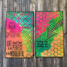 ICADs Days 26 & 27. #dylusionsinksprays and #sizzix Tim Holtz mixed media…
