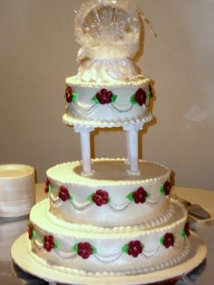 My Photo Album Wedding Cakes Photos on WeddingWire Extravagant Wedding Cakes, Crazy Wedding Cakes, Wedding Cake Photos, Wedding Photo Albums, Wedding Cake Decorations, Wedding Cake Designs, Wedding Ideas, Lebanese Wedding, Cake Decorating