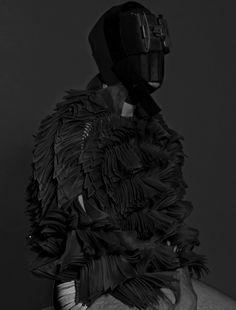GryuLich Black Splash, Color Splash, Black And White, Black Onyx, Cosplay, Future Fashion, Post Apocalyptic, Shades Of Black, Macabre