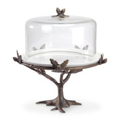 Buy your cabin kitchen decor, rustic paper towel holders at Black Forest Decor, your source for cabin kitchen accessories. Cake Stands For Sale, Cake Stand With Dome, Cake Dome, Pedestal Cake Stand, Rustic Paper Towel Holders, Baking Station, Black Forest Decor, Cabin Kitchens, Bird Design