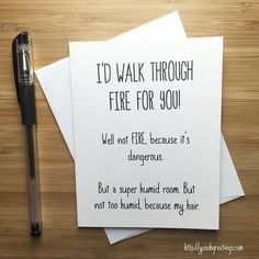 Yea Oh Greetings Walk Through Fire Card