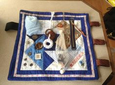 This quilt has gone to man with Lewy Body dementia. made by Christchurch Fidget ladies