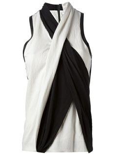 HELMUT LANG Sleeveless Bi-Colour Top