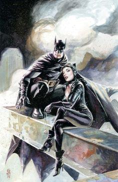 Batman and Catwoman by J.G. Jones